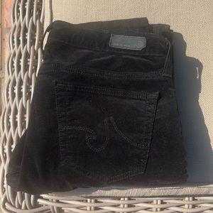 """AG black velvet super skinny """"The Legging"""""""